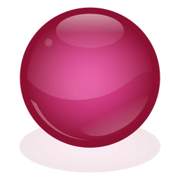 Red marble ball