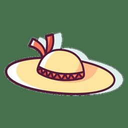 Mujer sombrero de playa