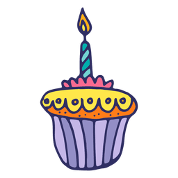 Birthday muffin candle