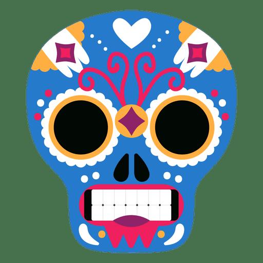 Blue skull mexican mask Transparent PNG