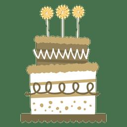 Flat birthday cake