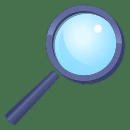Magnifying glass cartoon