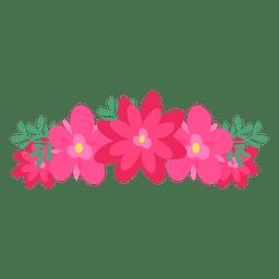 Pink red flower crown