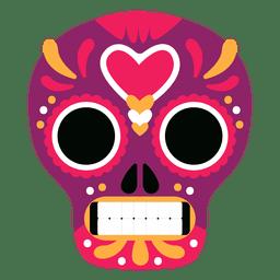 Red mexico skull