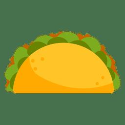 Taco icon cartoon