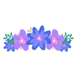 Violet blue flower crown