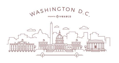 Washington DC stroke skyline