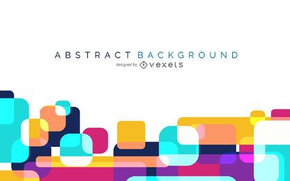 Colorful abstract background with rounded shapes
