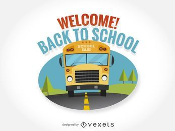 Back to school isolated sign