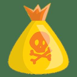 Bolso de Halloween con la historieta del cráneo