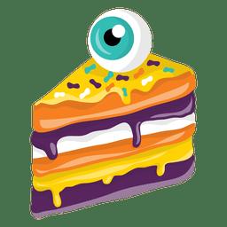 Halloween pice of cake eye decoration