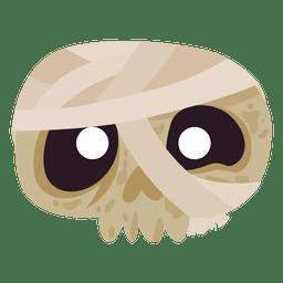 Vendaje de la máscara del cráneo de Halloween