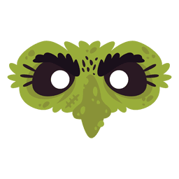 Green eye mask costume