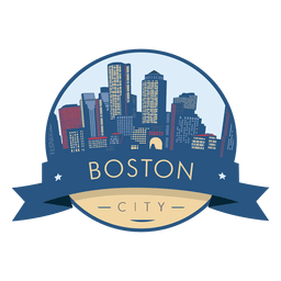 Boston skyline badge
