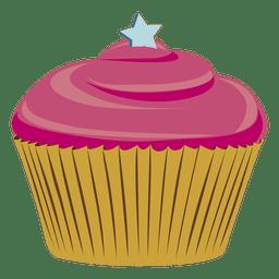 Chocolate cupcake illustration star