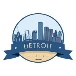 Detroit skyline badge