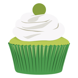Key lime cupcake illustration