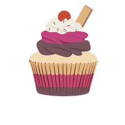 Triple cupcake illustration