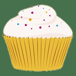 Vanilla cupcake illustration