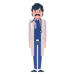 Flat doctor character illustration