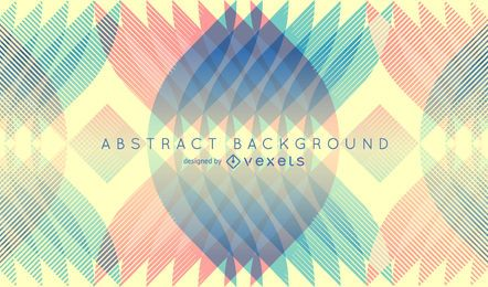 Retro background with geometrical shapes
