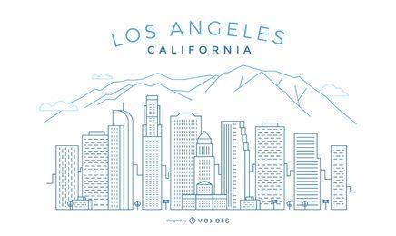 Horizonte de trazo de Los Angeles