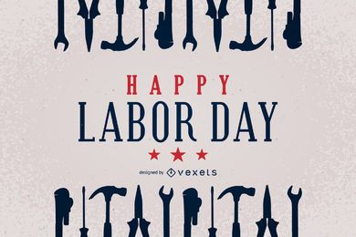 Labor Day design with tools