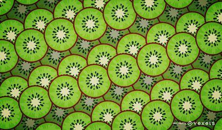 Diseño ilustrado del patrón del kiwi