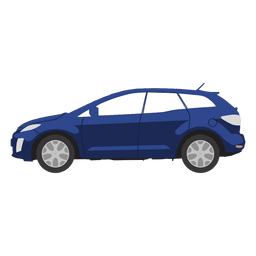 Blue hatchback illustration