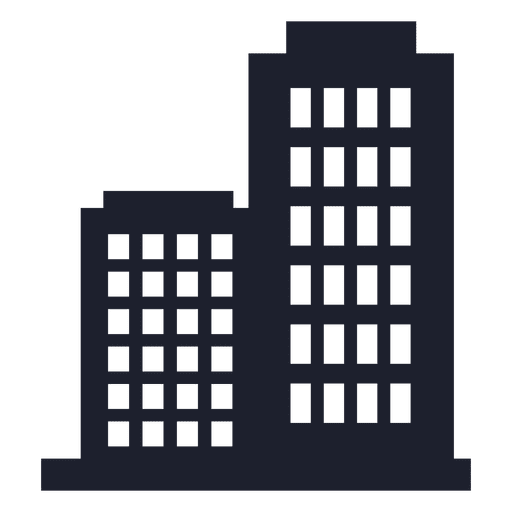 Company building silhouette Transparent PNG