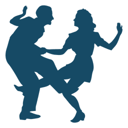 Lindy hop dance big kick silhouette