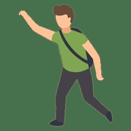 Student rising hand illustration