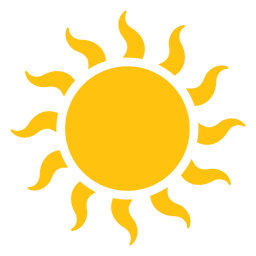 Sun large wavy beams icon