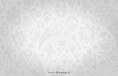 Russia 2018 seamless pattern in gray