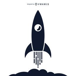 Rocket silhouette illustration