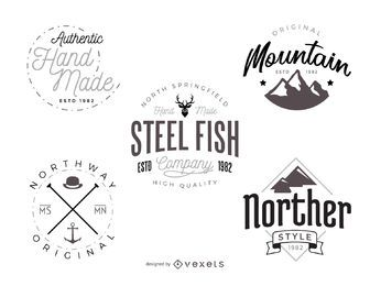 Hipster logo template pack