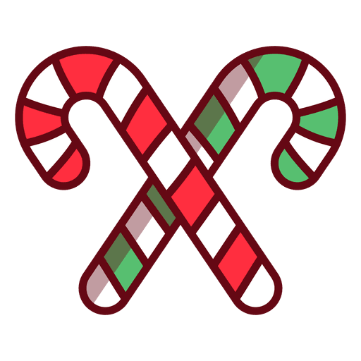 Christmas candy cane Transparent PNG