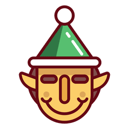 Christmas elf face