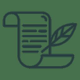 Christmas scroll icon