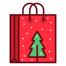 Christmas shopping bag