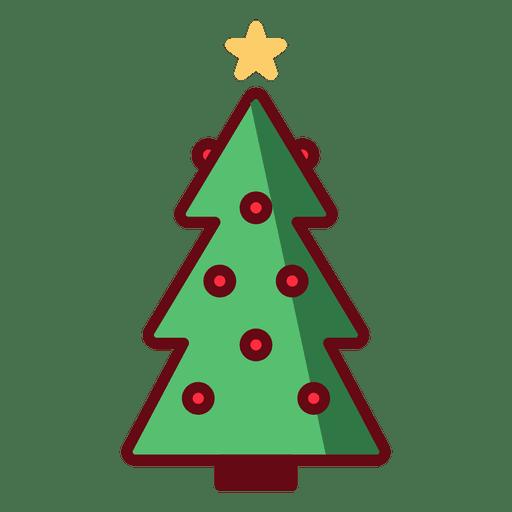 Christmas tree illustration Transparent PNG
