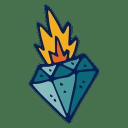 Flaming diamond