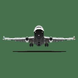 Avión, levantar, afuera