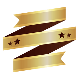 Ribbon golden badge