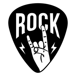 Rock music sign logo