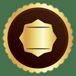 Round golden badge