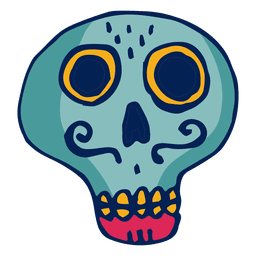 Skull with moustache