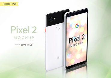 Google Pixel 2 PSD mockup