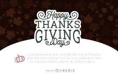 Thanksgiving card maker