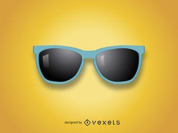 Ilustración realista de las gafas de sol
